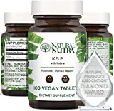 Natural Nutra Kelp Iodine Supplement, Thyroid Support, Vegan Sea Kelp, North Atlantic Sourced Seaweed Extract, 225 mcg, 250 Tablets