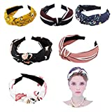Diademas para el cabello para mujer, 6 piezas, diademas anchas, con nudo torcido, turbante, diadema ...