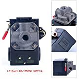 Lefoo Quality Air Compressor Pressure Switch Control 95-125 PSI 4 Port w/Unloader LF10-4H-1-NPT1/4-95-125