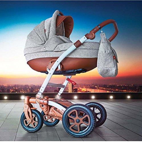 Kamil, 3-in-1 Travel System con carrozzina, seggiolino auto, passeggino sportivo e accessori NO...