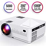 DBPOWER L21 LCD Video Projector, Upgraded 5000L 1080P 1920x1080 Supported Full HD Mini Movie...
