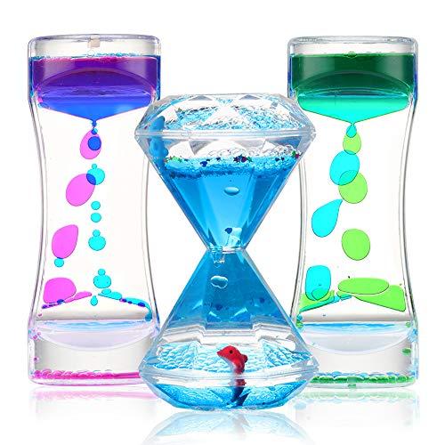 Sensory Liquid Motion Timer Bubbler Toy 3 Pcs. Set - Best...