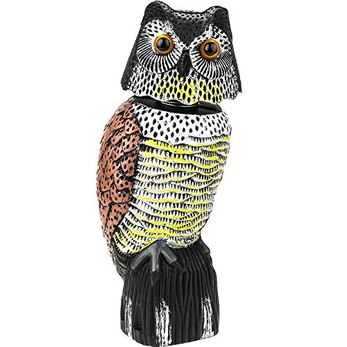 PrimeMatik - Ahuyentador de Aves Tipo Estatua búho con Ojos