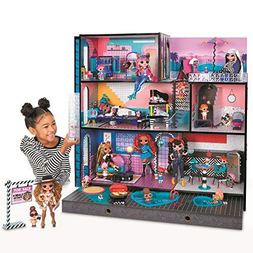 Image 2 - LOL Surprise OMG Maison de poupée. Vraie maison en bois & meubles. + 85 Surprises, 6 pièces dont 1 chambre, 1 piscine, 1 ascenseur, 1 cuisine, 1 armoire & + ! Maison 91x91cm, filles/garçons 3 ans et +