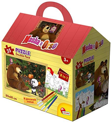 Lisciani 51663 - Masha in The Wood Puzzle Casetta, 35 Pezzi