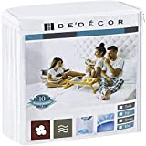 Bedecor Mattress Protector, Waterproof Protection Soft Cotton Terry Top Cover,Fit Up to 18',for...