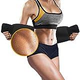 Perfotek Waist Trimmer Belt, Sweat Wrap, Tummy Toner, Low Back and Lumbar Support with Sauna Suit Effect, Abdominal Trainer (Black)