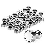 Temporaryt Aimant, 24PCS Magnet Métalliques AimantPuissant 12x16mm -...