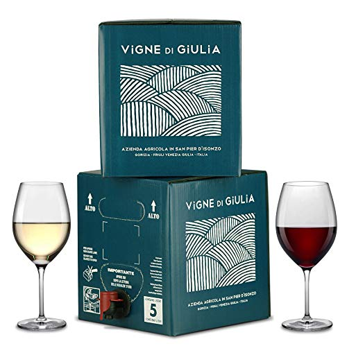 Bag in Box vino Sauvignon 5L + Bag in Box vino Merlot 5L - Vigne di Giulia