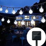 Solar String Lights Outdoor Crystal Ball Waterproof Globe String Lights 31ft 50LED Solar...