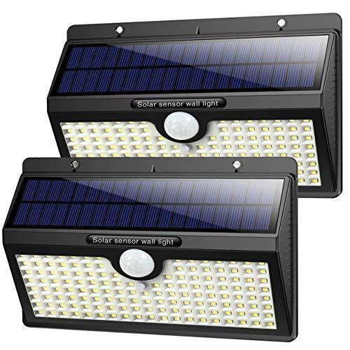 Luce Solare Led Esterno,【2019 Super Luminosa 138LED-1400 lumen】iPosible Luci Solari Esterno...