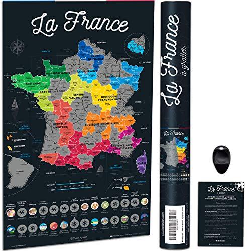 Bonanzana Carte de France à Gratter   Poster à Gratter Les Régions &...
