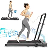 CAROMA Treadmill, 2-in-1 Folding Treadmill for Home, Electric Under-Desk Treadmill with App & Remote Control, LED Display, Indoor Walking Running Exercise Machine Simple Assemble