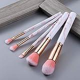 5/15 Piezas Juego de Herramientas de Pinceles de Maquillaje Polvo cosmético Sombra de Ojos Base Blush Blending Beauty Make Up Brush Maquiagem - 5 Piezas Rosa