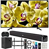 Sony XBR-75X800G 75-inch 4K UHD LED Smart TV (2019) Bundle with Deco Gear 60W Soundbar with Subwoofer, Deco Mount Flat Wall Mount Kit, Wireless Keyboard, Screen Cleaner and 6-Outlet Surge Adapter