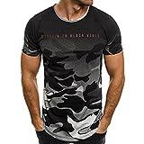 Tee Shirt Imprimer Camouflage T-Shirt Homme Camouflage Tee-Shirt Fitness Homme Tshirt Homme Pas Cher T Shirt Manches Courtes Tee Tunique Homme Vetement Homme Pas Cher WINJIN