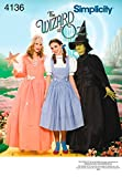 Simplicity 4136 'Wizard of Oz' Dorothy, Wicked Witch and Glinda Good Witch Halloween Costume Sewing Pattern for Women, Sizes 14-22