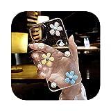 HUJEA かわいいワイルドフラワーデイジークリア電話ケースfor iPhone 12 Mini 12 11 Pro Max X……