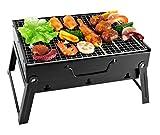 SunJas Barbecue Portable Mini Barbecue à Charbon Pliable BBQ Grill...