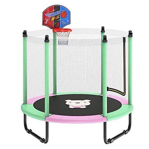 FSGD Trampolino Bambini, Trampolino Elastico, Diametro 150 cm con Rete di Protezione, per divertirsi...