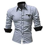 Subfamily Chemise à Manches Longues pour Hommes Chemise décontractée Blouse Homme Tee Shirt Chemises Homme