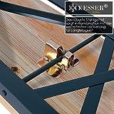 Bierzeltgarnitur mit lehne & breiter Tisch 3 teilig Gartenmöbel-Set - 4