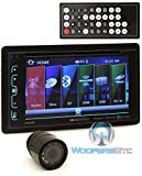 Soundstream VR-65XB in-Dash 2-DIN CD/MP3 Car Stereo Receiver with Bluetooth and SiriusXM Ready Plus XO Vision HTC36 Night Vision Camera