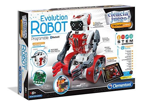 Clementoni-55191 - Evolution Robot - robot para montar y jugar con app...