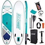 ACOWAY Inflatable Stand Up Paddle Board,10'6' Long 33' Wide 6' Thick| SUP Paddleboard Accessories Backpack |Bottom Fin Paddling Surf Control, Non-Slip Deck | Youth & Adult Stand up Paddle Board