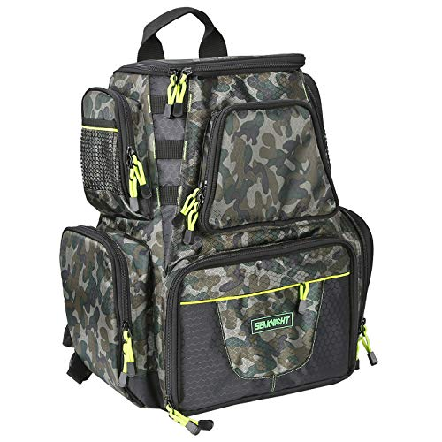 SeaKnight Fishing Tackle Backpack, Large Storage, Saltwater Resistant Fishing Bags,Waterproof...