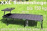 Aluminium Sonnenliege XXL klappbar mit Dach bis 150 kg Klappliege 5-Fach verstellbar - 6