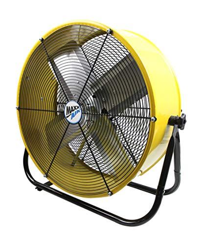 Maxx Air | Industrial Grade Air Circulator for Garage, Shop, Patio, Barn Use | 24-Inch High Velocity Drum Fan, Two-Speed