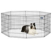 """MidWest Foldable Metal Dog Exercise Pen / Pet Playpen, 24""""W x 30""""H, 1-Year Manufacturer's Warranty"""