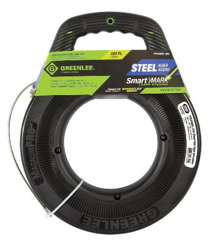 Greenlee, FTS438DL-250, Fish Tape, 1/8 In x 250 ft, Steel