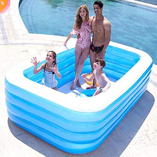 Junean Piscina Inflable, Piscina Familiar, Cristal Azul para niños Adultos Piscina Inflable para niños