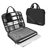 ARVOK Funda para portátil de Estuche para Accesorios con Correa y asa, maletín para Ordenador portátil Maletín para Acer/ASUS/DELL/Lenovo/HP (13.3-Pulgadas, Negro)