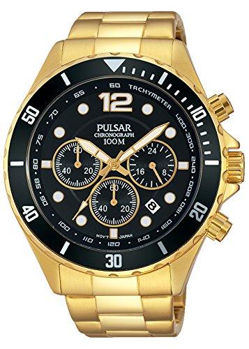 Pulsar Herren-Armbanduhr Analog Quarz Edelstahl beschichtet PT3720X1