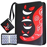 Trading Card Binder with Sleeves,720 Pockets Zipper Binder Card Holder Collectors Album Carrying...