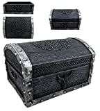 Atlantic Ebros Gift Medieval Fantasy Celtic Crest Dragon Decorative Box Figurine 4.75' Long As Dungeons and Dragons Mythical Decor Trinket Storage Sculpture Mini Chest Box Statue GOT LOTR Gothic Fans