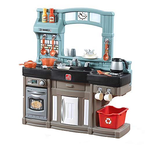 Step2 Best Chefs Kitchen Playset   Kids Play Kitchen with 25-Pc Toy Accessories Set, Real Lights & Sounds, Multicolor
