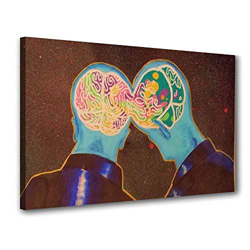 Pizarra Psicología Recepción Mente Humana Cerebro