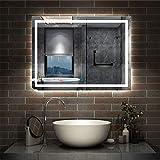 AICA sanitaire Miroir de Salle de Bain 80x60cm Anti-buée Miroir Mural avec...