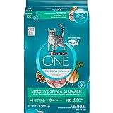 Purina ONE Natural Dry Cat Food, Sensitive Skin & Stomach Formula - 22 lb. Bag