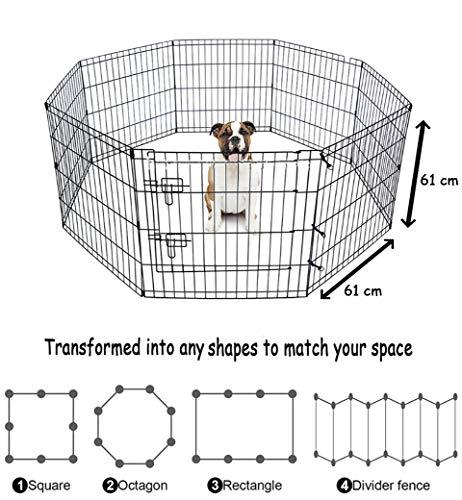 Bunny Business Box a 8 pannelli adatto a Conigli / Ghinee / Cani e Gatti, piccolo, Nero