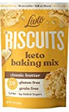 Livlo Keto Biscuit & Bread Mix - Low Carb & Gluten Free Baking Mix - 2g Net Carbs - Fast, Easy and Delicious Keto Friendly Food - 10 Servings - Classic Butter Biscuits