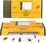 48 Pack Roach Traps Bug Glue Trap, Cockroach Killer Indoor Home Sticky Traps for Roaches Ants Spiders Crickets Beetles