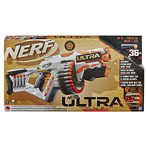 Hasbro Nerf Ultra - One (Blaster Motorizzato, include 25 Dardi Nerf Ultra, Compatibile soltanto con...