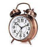 otumixx Réveil Matin à Double Cloche, Réveil Rétro Silencieux Horloge...