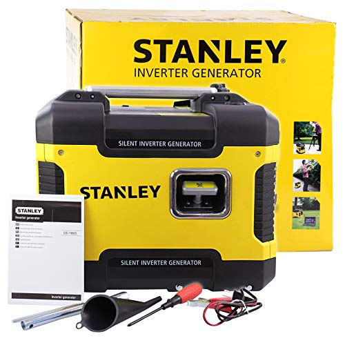 Stanley 604800110 Stromerzeuger, Inverter, Notstromaggregat, Benzin, leise, 1.900 Watt