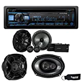 Alpine CDE-172BT Bluetooth CD Receiver, a Pair of Kicker 43CSS654 6.5' Components, a Pair of 43CSC6934 6x9 Speakers